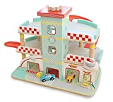 Indigo Jamm Raceway Garage, Retro Design Play Vehicle Set on 3 Floors with Lift and Ramps and 2 Toy Cars Included