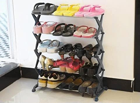 Generic O-1-o-2409-o der STE Organiseur inoxydable Nless H support de stockage Aniser 5niveaux empilable du câble en acier support en métal Hoe RAC à chaussures NV _ 1001002409-nhuk17_ 294