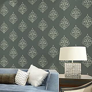 al-mullk Floral Wallpaper Contemporary Wall Covering , Non-woven Paper Continental Simple Luxury