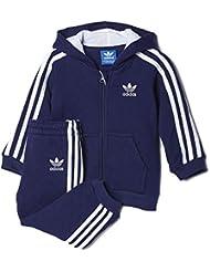Conjunto adidas – I fleece Quilted azul talla: 99 a 104 cm altura – de 3 a 4 años