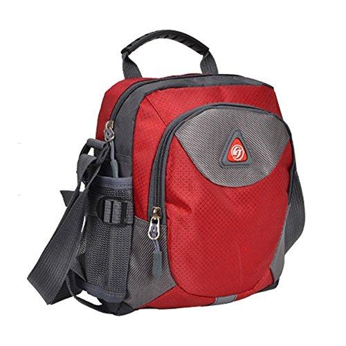 DELEY Lässige Unisex Outdoor Travel Gear Tote Handtasche Crossbody Umhängetasche Rot