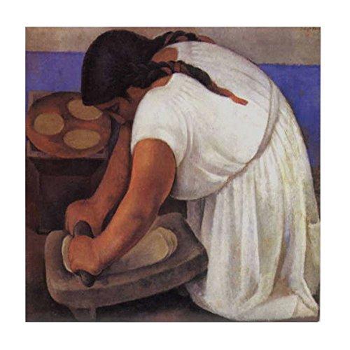 CafePress - Diego Rivera Molendera Art - Fliesenuntersetzer, Untersetzer, Kleiner Untersetzer - Diego Rivera, Mexikanischer Künstler