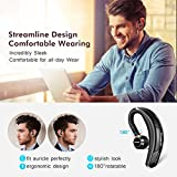 Mpow® Bluetooth Headset [Business Stil] Wireless Headset Bluetooth Ohrhörer Freisprechen mit Clear Voice Capture Technologie Bluetooth In-Ear Headset für iPhone Samsung Huawei HTC, usw. (Bluetooth 4.1, 280 Stunden Standby-Zeit, Schwarz) - 2