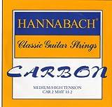 Hannabach Cuerdas para guitarra cl?sica CARBONO Medium/High tension Diskant B2