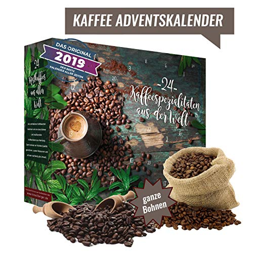 ganze Kaffee Bohnen Adventskalender
