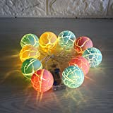 Globe Colorful Ball String Lights, 10 LED Warm White Fairy String Lights, Everyday Home decor Bedroom Curtain Night String Lighting