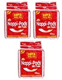 Nappy Pads Pack of 3 -180 pieces (60+60+60)