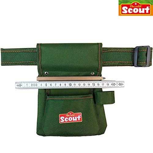 Kinder Werkzeuggürtel, 50-90 cm, mit Schlaufe für Hammer: Kinder Werkzeug Gürtel mit Werkzeugtasche klein Handwerker Gürteltasche