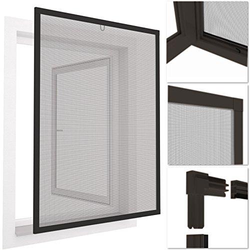 easy life - Protezione finestre per insetti easyLINE 100 x 120 cm, telaio in alluminio, altre misure e colori a scelta