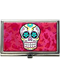 Amazon made on terra wallets card cases money organizers sugar skull business credit card holder case reheart Image collections