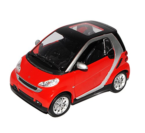 smart-fortwo-for-two-for2-2-rot-1-24-new-ray-modellauto-modell-auto