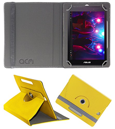 Acm Rotating 360° Leather Flip Case for Asus Fonepad 7 Fe170 Cover Stand Yellow  available at amazon for Rs.149
