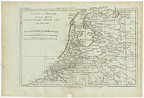 Antique Print-THE NETHERLANDS-HOLLAND-BELGIUM-Bonne-c.