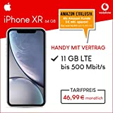 Apple iPhone XR (weiß) 64GB Speicher Handy mit Vertrag (Vodafone Smart XL) 11GB Datenvolumen 24 Monate Mindestlaufzeit [Exklusiv bei Amazon]