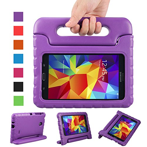 NEWSTYLE Samsung Galaxy Tab 4 7.0 Zoll Eva Stoßfeste Schutzhülle Tragbar für Kinder mit Ständer Schutzhülle Standfunktion für Samsung Tab 4 SM-T230/T231/T235 7 Zoll Tablet,-Lila