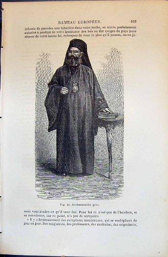 Menschliche Rassen Humaines Figuier des Archimandrite (Kostüm 1880)