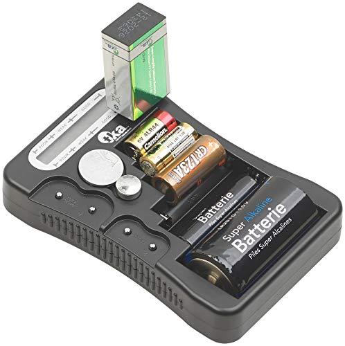 tka Köbele Akkutechnik Digitaler Profi-Batterietester mit LCD-Anzeige, für gängige Batterien