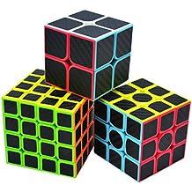 Maomaoyu Speed Cube Autocollant de Carbone Fibre Magico Cubo Puzzle Twist  Giocattolo Noir 7f918529b3ea
