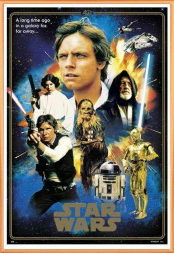 1art1® Star Wars Póster con Marco (Plástico) - 40 Aniversario, Heroes (91 x 61cm)