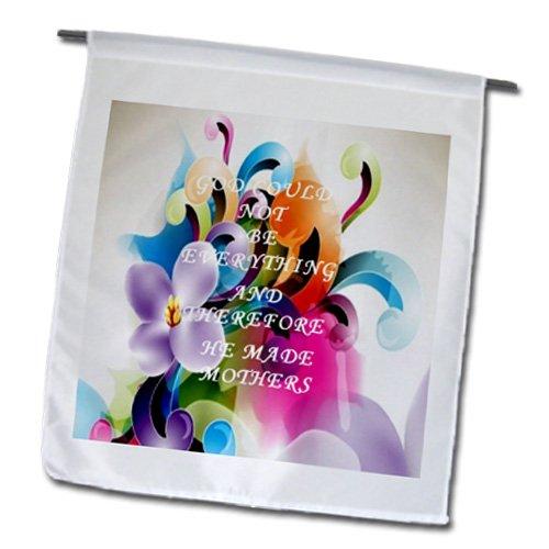 3drose FL _ 100857_ 1Floral Scroll mit Wise jüdische Sprichwort für Mütter Tag Garten Flagge, 12von 18