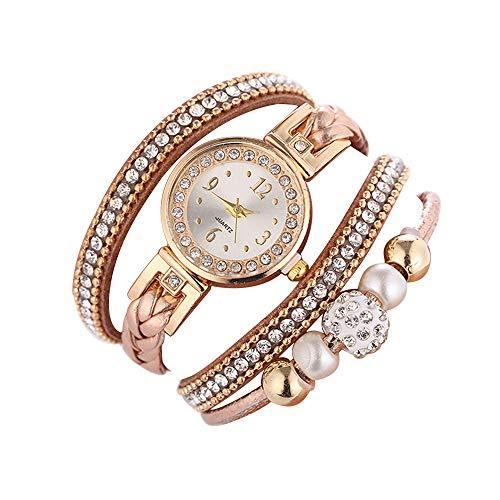Darringls Mode Damen Uhren Armbanduhr Damen Ronamick Schöne Mode Damenuhr Runde Armbanduhr Uhr Uhren (Braun, One Size)