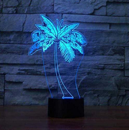 Led Palme Modellierung Nachtlicht Usb 3D Tischlampe Mode Schlafzimmer Dekor Nacht Baby Schlaf Leuchte Kinder Geschenke (Palme-touch-lampe)