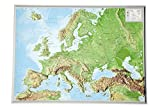 Europa klein 1:16.000.000: Reliefkarte Europa klein Din A3 (Tiefgezogenes Kunststoffrelief)