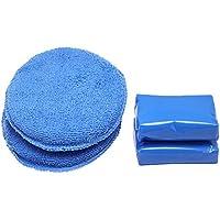hysagtek 2pcs coche barra de arcilla 100G Auto Detallado Magia Claybar Limpiador con 2pcs microfibra aplicador de cera para limpieza de coche, color azul
