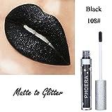 Allbesta Encre à lèvres liquide matte pailletée métallisée, éclat diamant sublimateur, waterproof, longue tenue