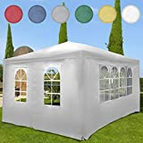 Gazebo Party Tent Garden Marquee Pavilion Canopy 3 x 4 m - Several Colours Available white
