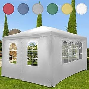 Miadomodo Gazebo tendone da giardino esterno 3 x 4 m colore a scelta (bianco)