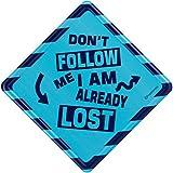 Happipress Don't Follow Car Sign/Car Sticker