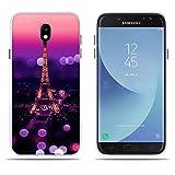 Cover per Samsung Galaxy J7(2017) J730F/J7 Pro, DIKAS [Tower Night] 3D Rilievo UltraSlim TPU Skin Cover Protettiva Shell Custodia per Samsung Galaxy J7(2017) J730F/J7 Pro (5.5')- Pic: 24
