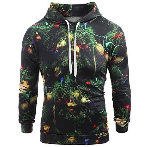 LIMITA Herren Kapuzenpullover Langarm Hoodies Lustige Weihnachtspullover Casual Pullover Winter Sweatshirt