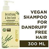 Nuray Naturals Vegan Anti Dandruff Shampoo with Rosemary and Tea Tree, 300 ml