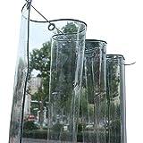 Zuzanny transparant Pvc waterdicht plastic dekzeil met ogen regen bloem plant blad covers 0.3Mm 400G / M2 1.8mx2m