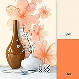 NEWROOM Blumentapete Orange Vliestapete Struktur,Textil,Unis schöne moderne und edle Design Optik, inklusive Tapezier Ratgeber