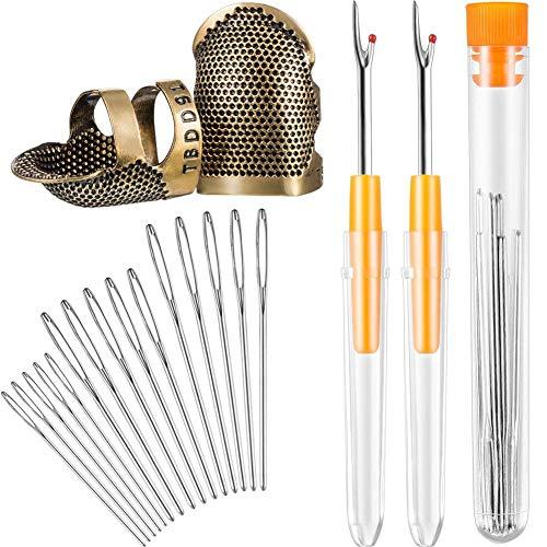 Kit herramientas costura-Protector dedos dedal costura