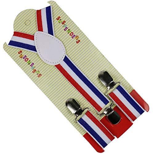 Ymxbsbd bretelle con bretelle y-back fashion 3 bretelle elastiche per bambini bretelle per neonati 2.5 centimetri larghe bretelle a righe colorate