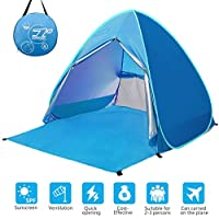 WloveTravel Outdoor Automatic Pop Up Beach Tent, Portable Cabin Camping Tent Sun Shelter for 2-3 Person