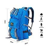 Babimax 50L Sac à dos Imperméable pour Camping Randonnée Extérieure Sport Voyage Escalade Unisexe (Bleu)