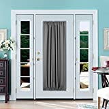 Deconovo French Door Panels Blackout Curtain Rod Pocket Thermal Insulated Curtains for Living