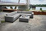 Ribelli Lounge Set Aluminium 'Linares' für Outdoor & Indoor - Alu Loungemöbel Garnitur 3 teilig für Garten & Terrasse - Loungeset in Anthrazit Grau mit Eckbank