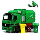 AOLVO Müllwagen Spielzeug Groß, 4er Set LKW Müllfahrzeug mit 3 Großes Garbage Truck, Kinder Spielzeugauto Spielfahrzeug Baufahrzeuge für Mädchen Jungen Weihnacht Geburtstag Geschenk