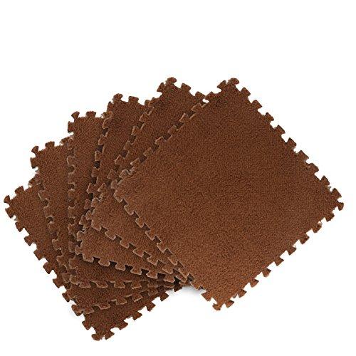 KAIHONG Pastell Puzzle-Matte Spielteppich Kinder-Spielmatte EVA Schaumstoff-Teppich Kinderteppich (Braun, 8 Stück)