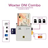 Woxter Combo - Lector electrónico (DNI 3.0, Tarjetas SD, MMC, MS, MSPro, XD, Micro SD, Compatible...