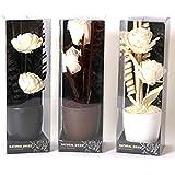 Bouquet di fiori artificiali con vaso arredo stile etnico