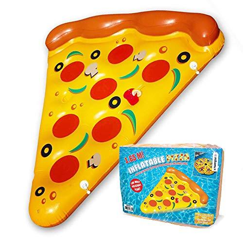 mikamax - Fetta per Pizza Gonfiabile - 1,65 m - Giallo con Arancia