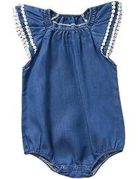 Monos, FAMILIZO Bebé ReciéN Nacido Bebé NiñAs Mezclilla Mono De Mono Conjunto Pijama Mamelucos
