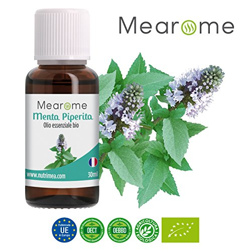 MENTA PIPERITA– Olio Essenziale Biologico 30 ml – Olio Essenziale chemiotipizzato OEBBD Bio 100% Puro e naturale